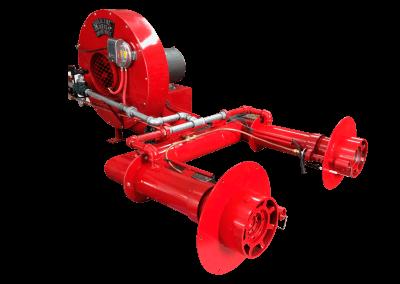 1 – Quemador modelo a10 automático con 2 cañones y pilotos de ignición , tren de válvulas , presostato. diseño especial a petición del cliente