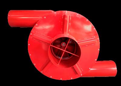 16 – Recurculador de aire caliente modelo 22 bifuncional motor de 5 hp especial . Soporta hasta 350 grados centígrados
