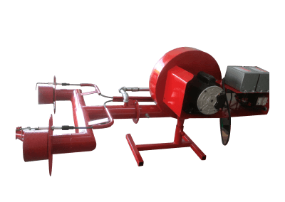 21 – Quemador manual modelo hm4 . Característica especial de doble cañón y encendido electrónico