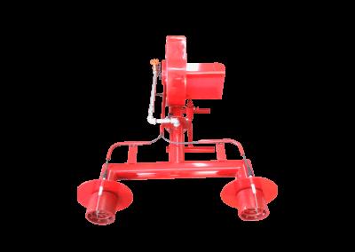 22 – Quemador manual modelo hm4 . Característica especial de doble cañón y encendido electrónico