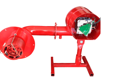 26 – Quemador automático modelo 8 poder de calentamiento desde 50 mil a 900 mil bru/h, cañón diseñado a 90 grados