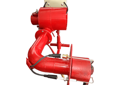 27 – Quemador automático modelo 8 poder de calentamiento desde 50 mil a 900 mil bru/h, cañón diseñado a 90 grados