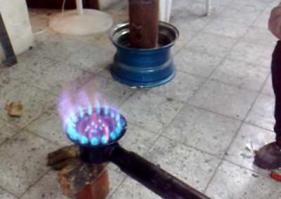 55 Quemadores industriales de gas Modelo 7 vertical